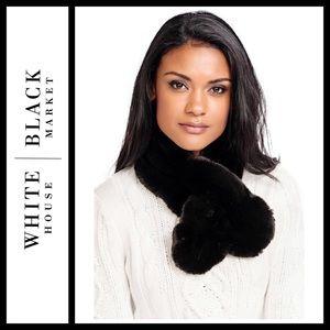 WHBM Faux Fur Wrap